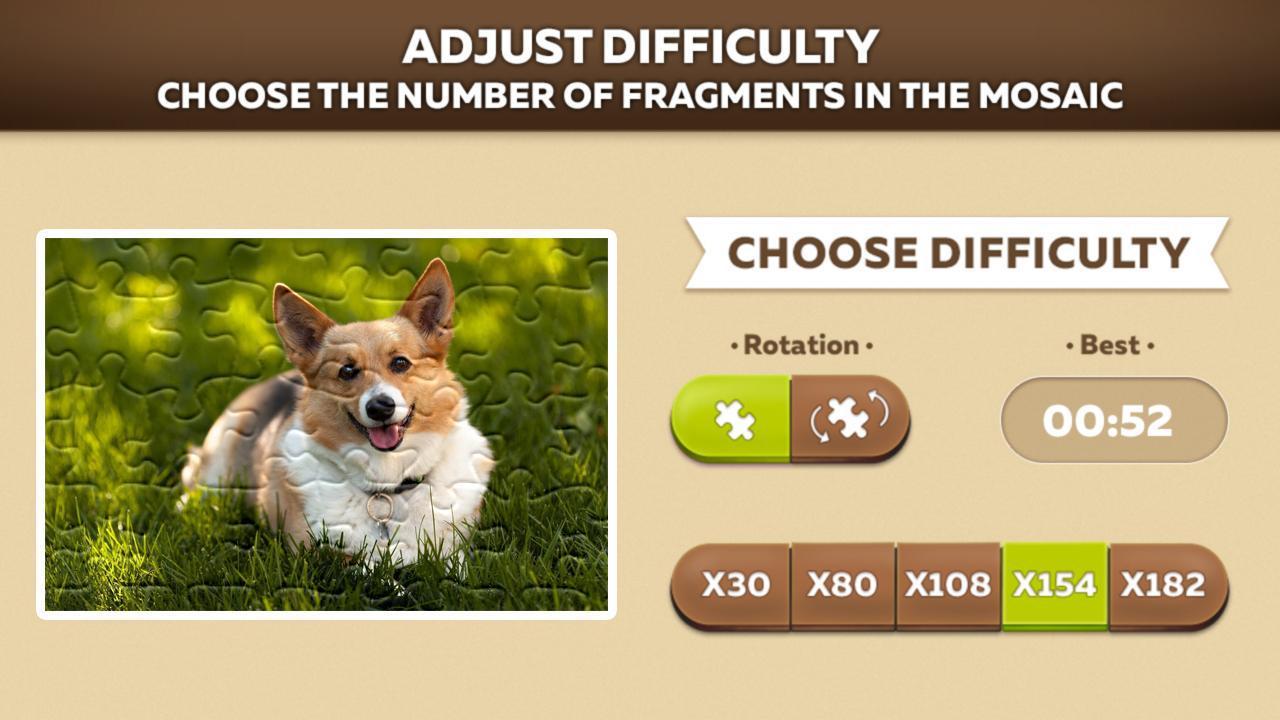 Cute Dog Puzzles 游戏截图3