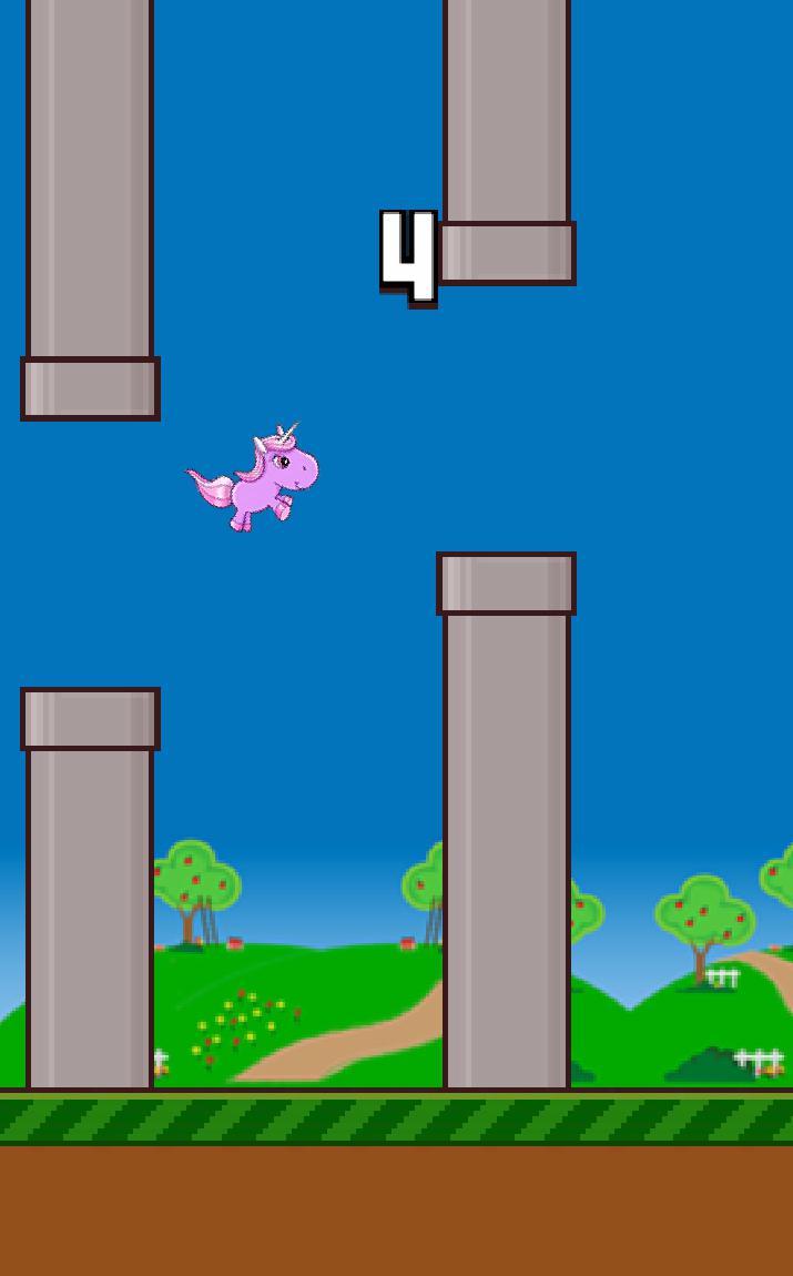 Flappy Unicorn 游戏截图1