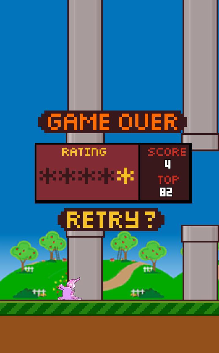 Flappy Unicorn 游戏截图3