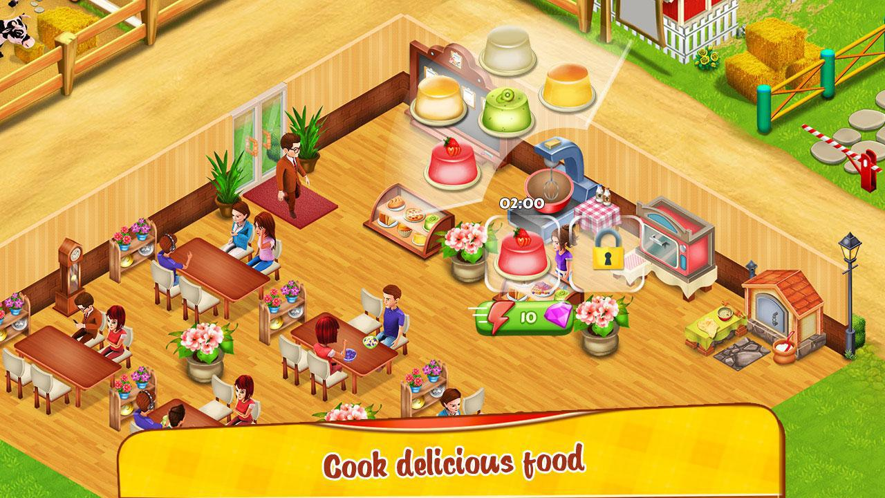 Cafe Farm Simulator - Kitchen Cooking Game 游戏截图4