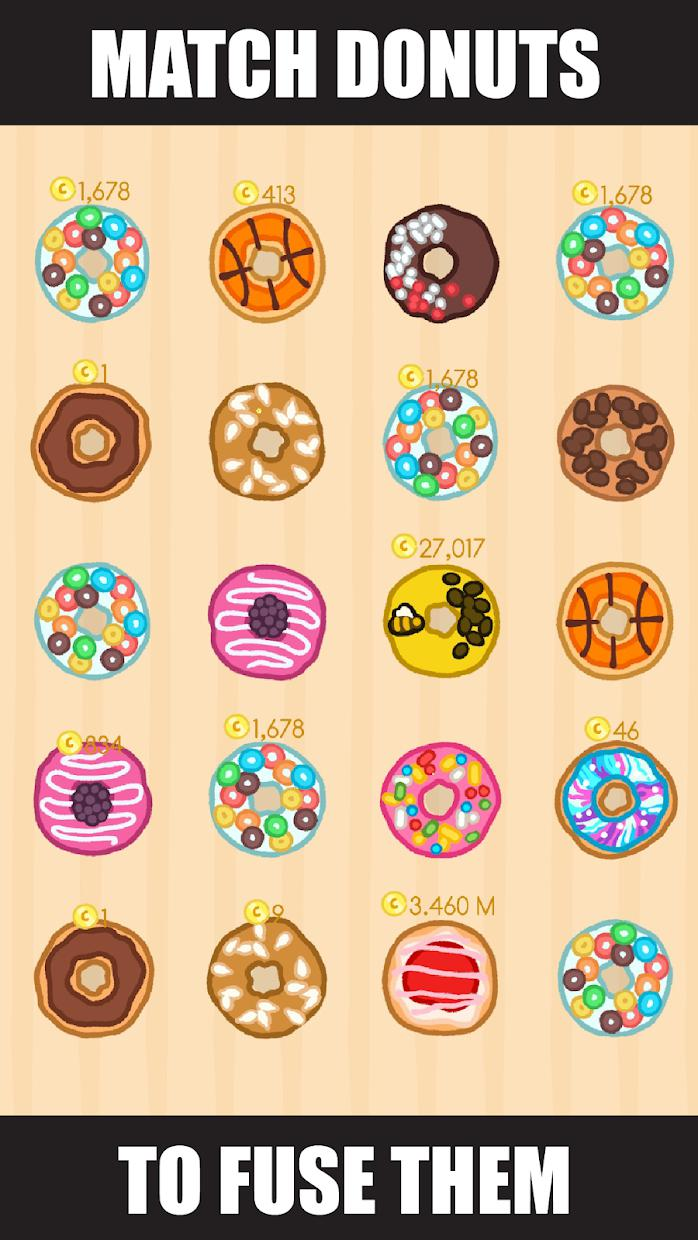 Donut Evolution - Merge and Collect Donuts! 游戏截图1
