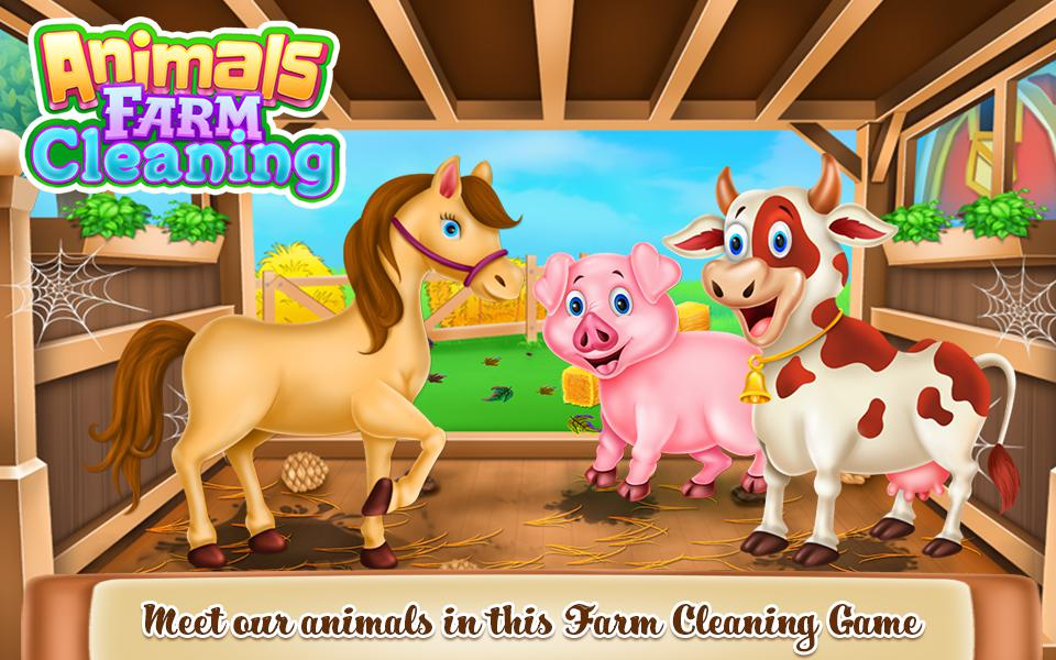 Animals Farm Cleaning 游戏截图1