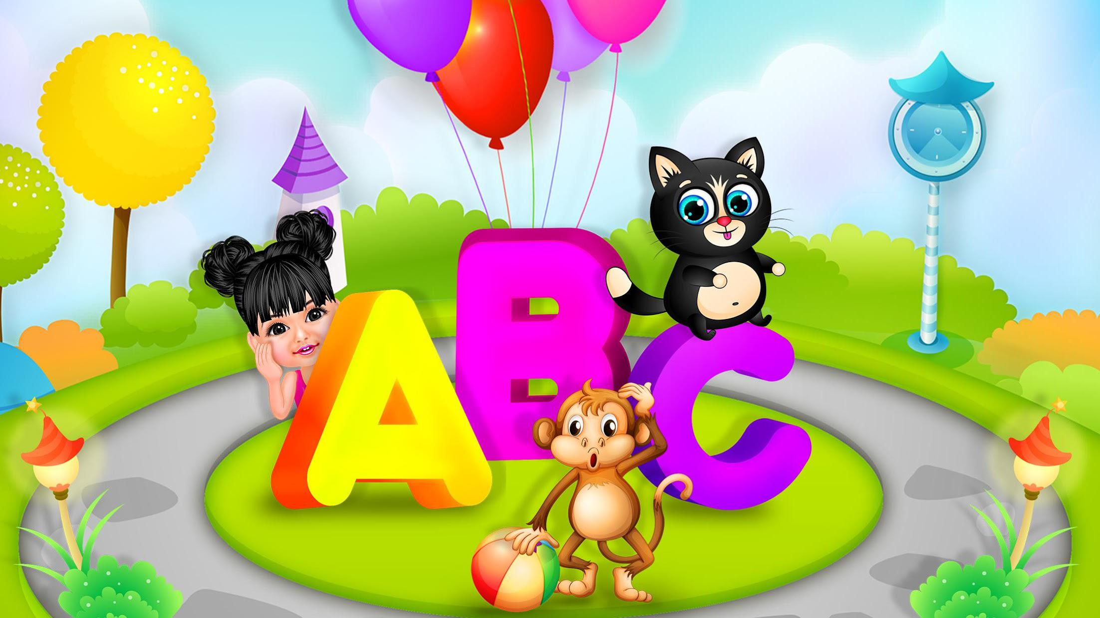 Aadhya's Kids World: ABC Tracing & Phonics Game 游戏截图1