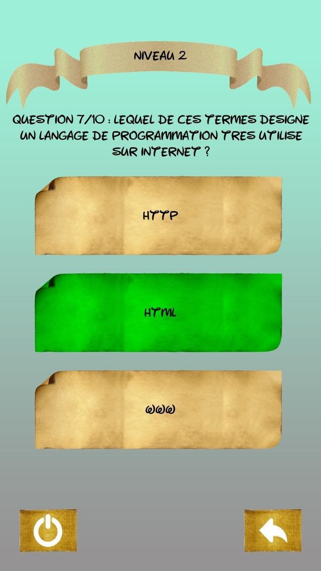 Quiz  Informatique 游戏截图2