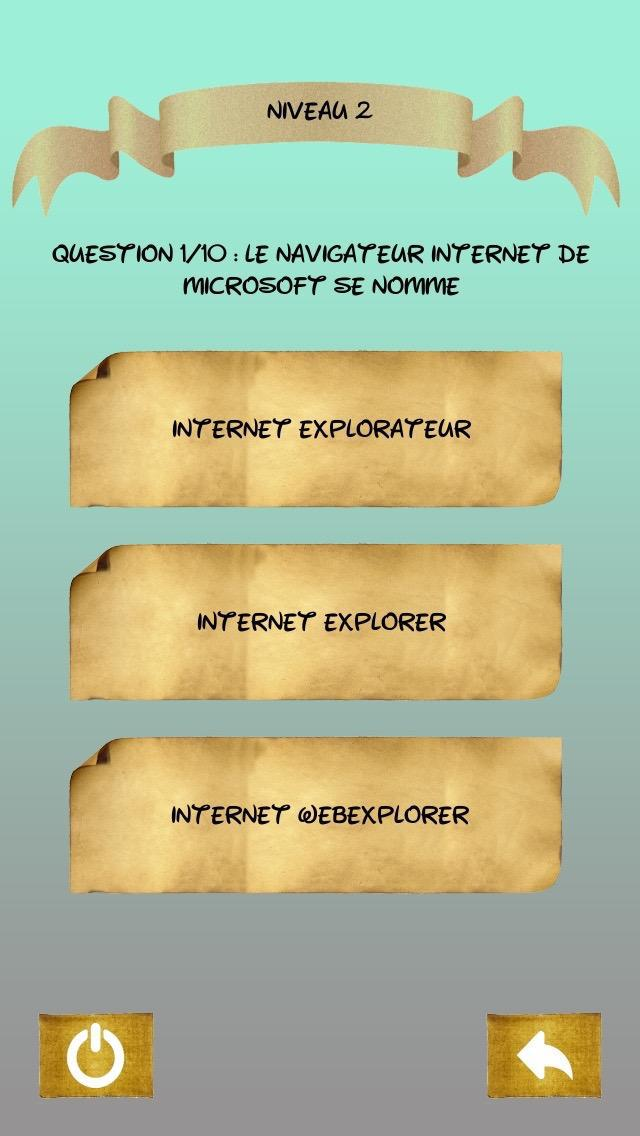 Quiz  Informatique 游戏截图3