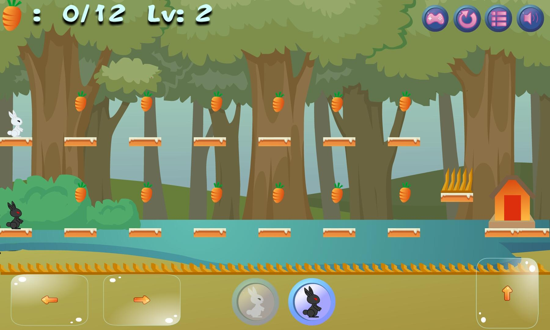 双人游戏 - 兔子兄弟回家 游戏截图5