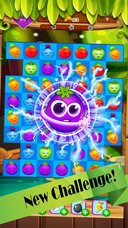 Veggies garden : Vegetable carnival match 3 crush 游戏截图1