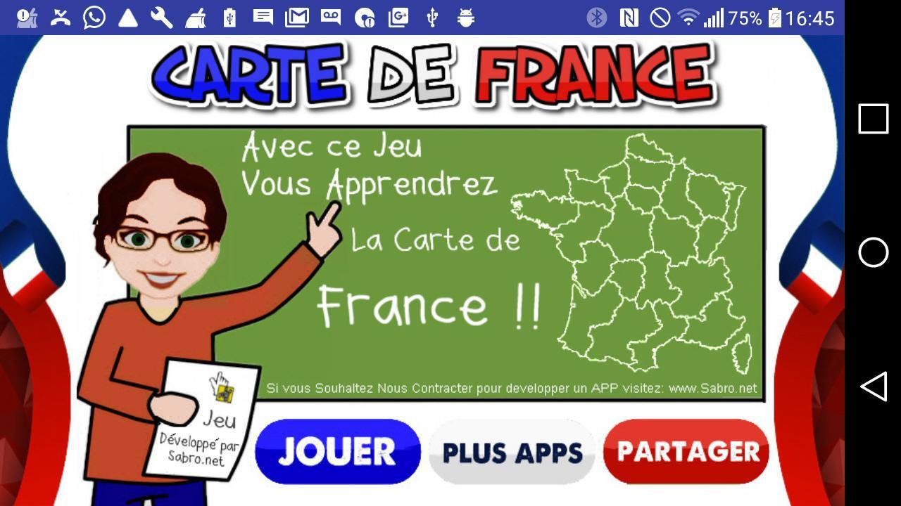 Carte de France Jeu 游戏截图1