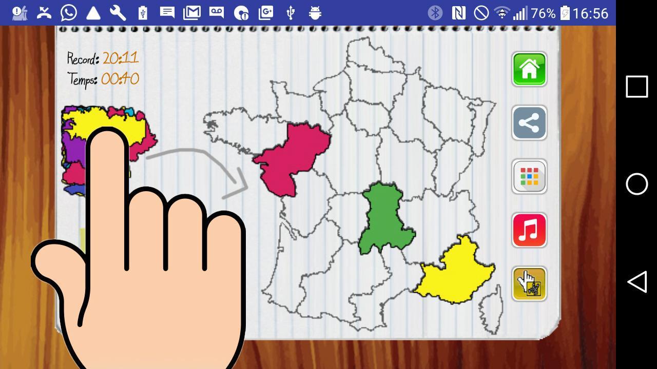Carte de France Jeu 游戏截图5
