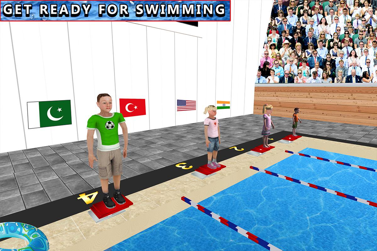 儿童水上游泳锦标赛 游戏截图1