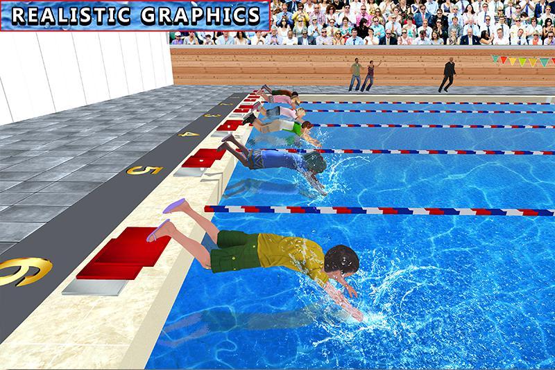 儿童水上游泳锦标赛 游戏截图2