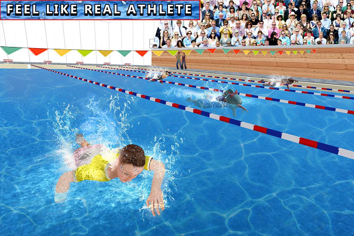 儿童水上游泳锦标赛 游戏截图5
