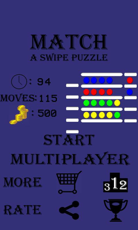 Match: A Swipe Puzzle 游戏截图1