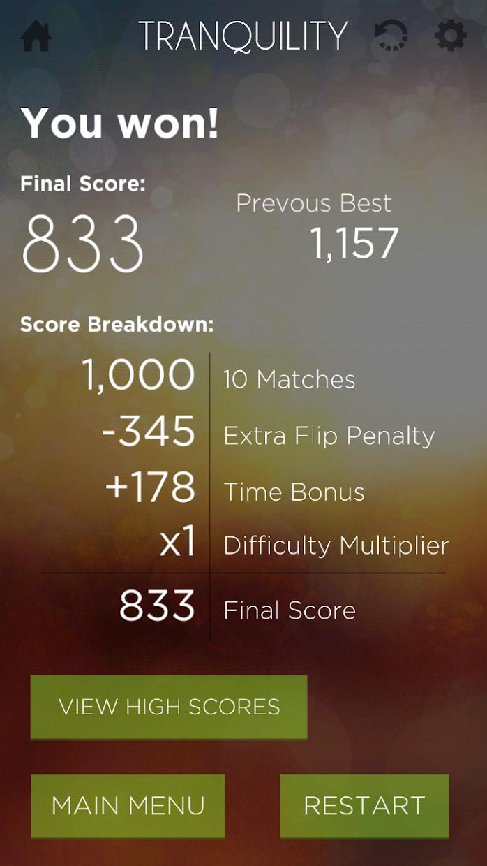 Tranquility Match Memory Game 游戏截图5