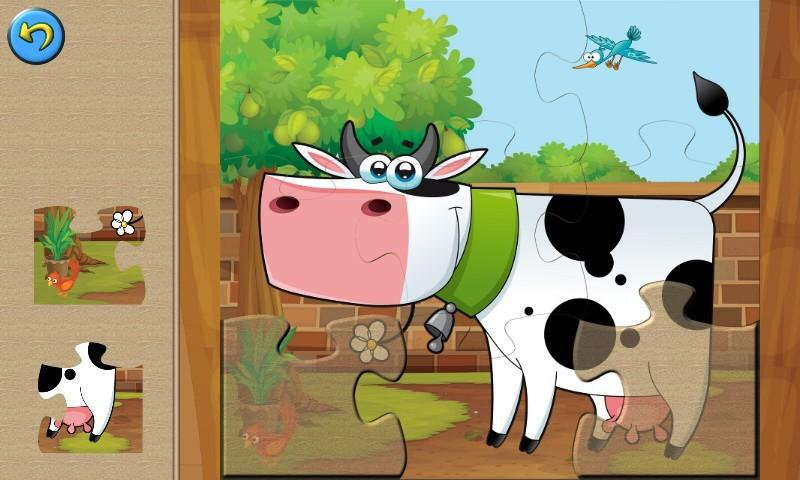 Farm Family Games: Learning Puzzles for Kids 游戏截图1