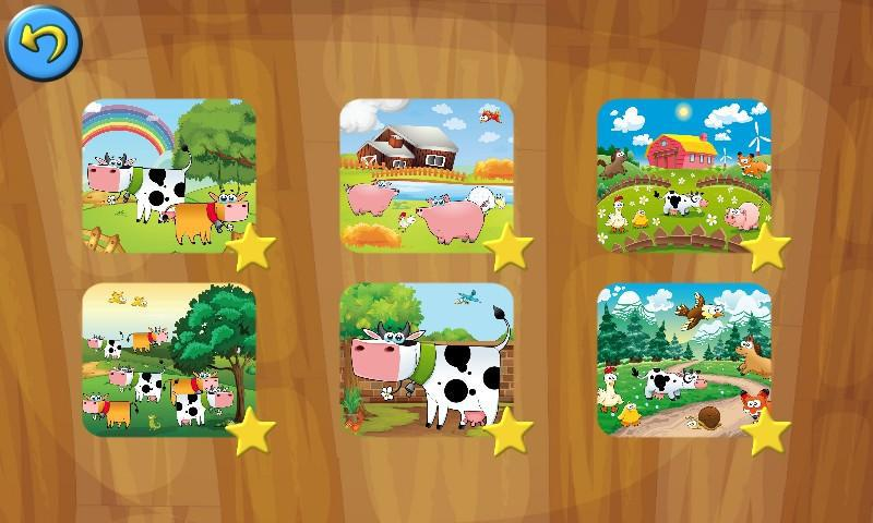 Farm Family Games: Learning Puzzles for Kids 游戏截图3