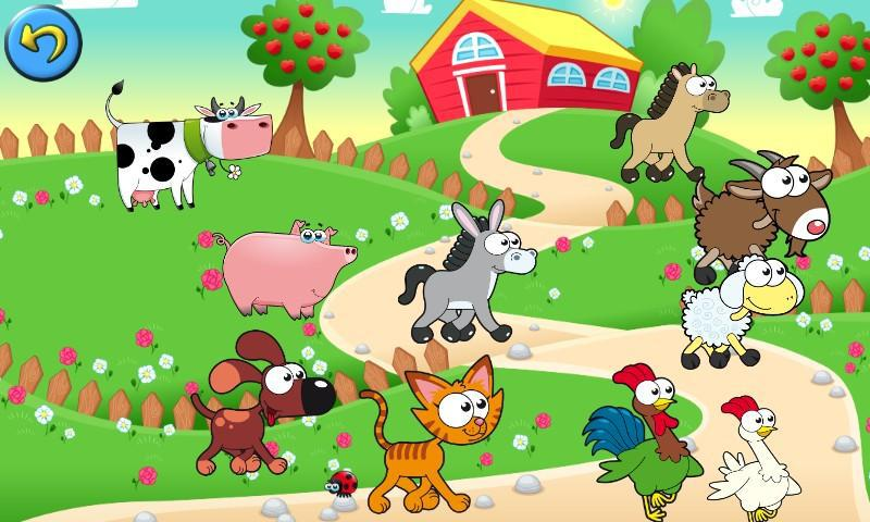 Farm Family Games: Learning Puzzles for Kids 游戏截图5