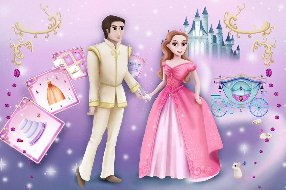 Cinderella Story Fun Educational Girls Games 游戏截图1