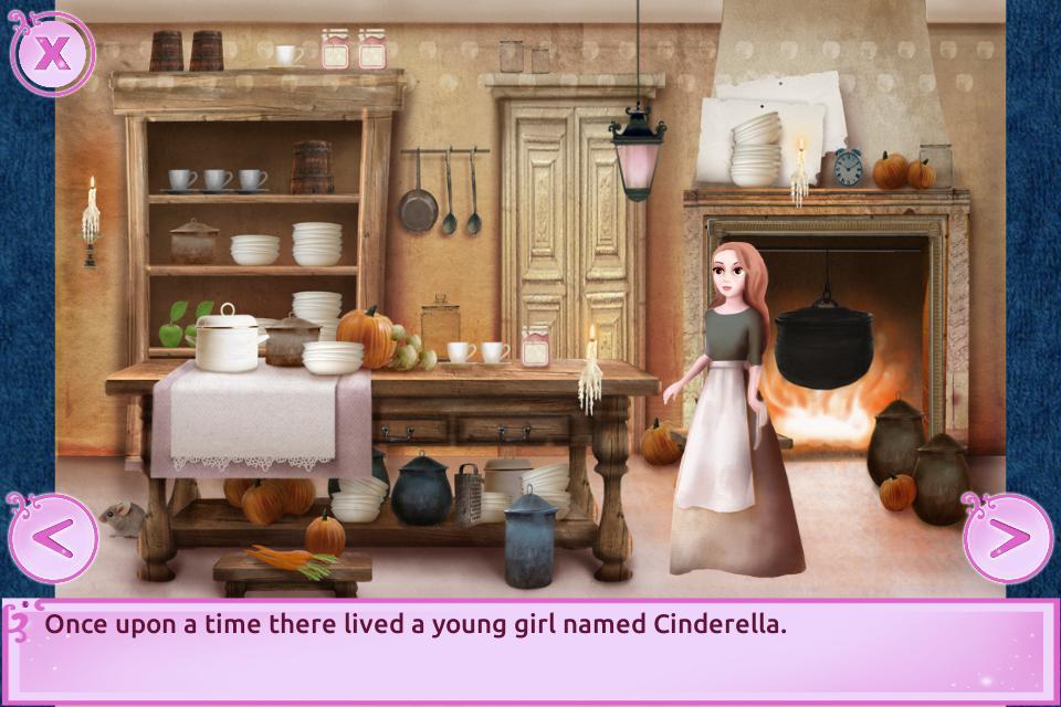 Cinderella Story Fun Educational Girls Games 游戏截图2