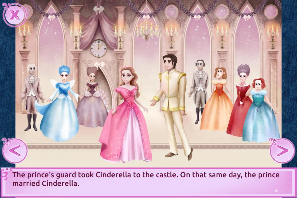 Cinderella Story Fun Educational Girls Games 游戏截图4
