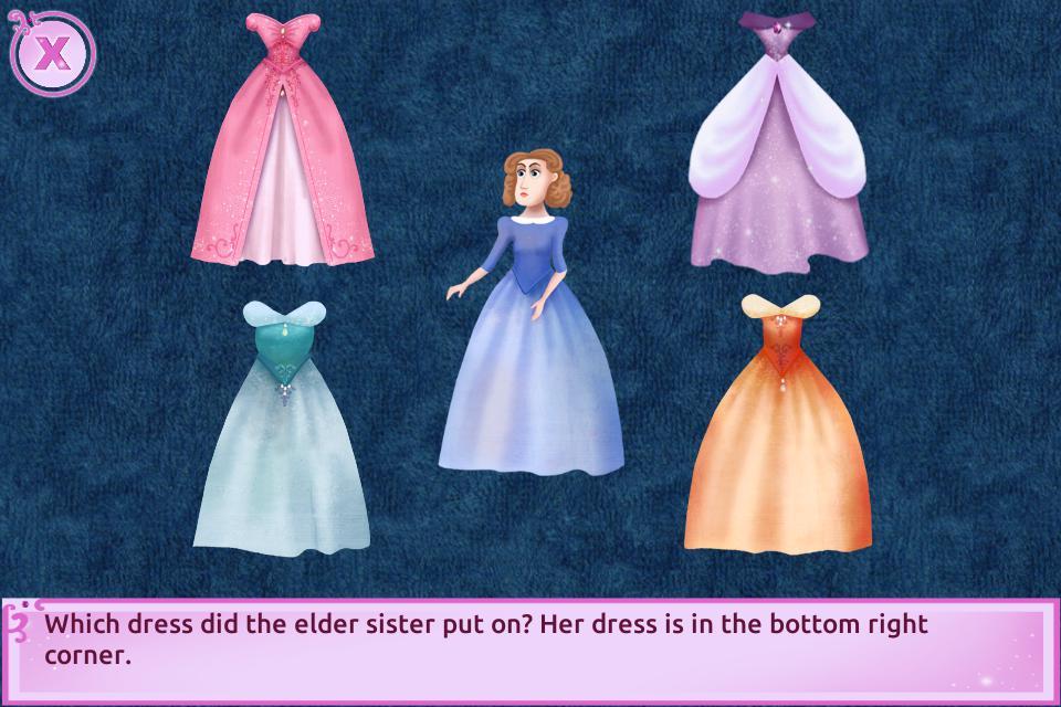 Cinderella Story Fun Educational Girls Games 游戏截图5