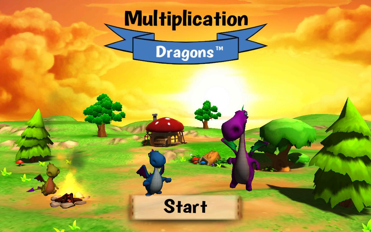 Multiplication Dragons 游戏截图1