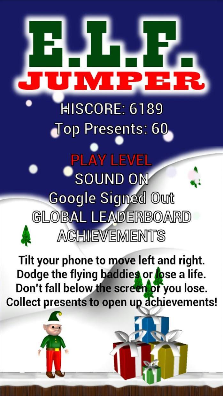 Elf Jumper for Christmas 游戏截图1