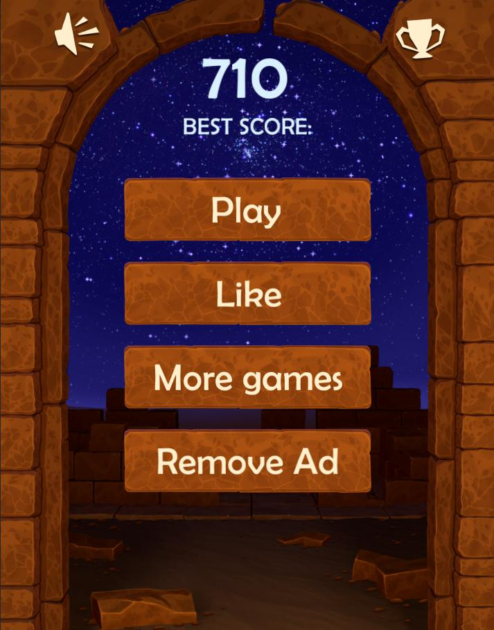 Block Puzzle Night in Egypt: Block Tiles game mode 游戏截图2