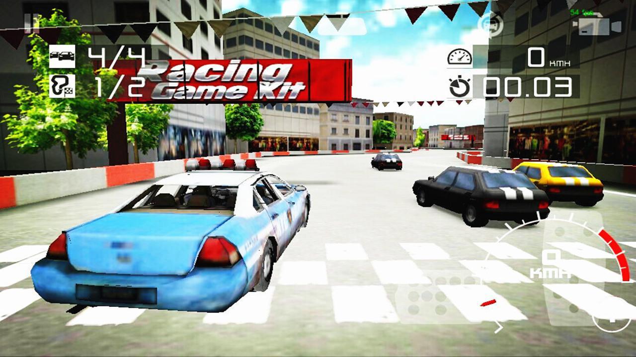 警车驾驶赛车漂移 3D 游戏截图1