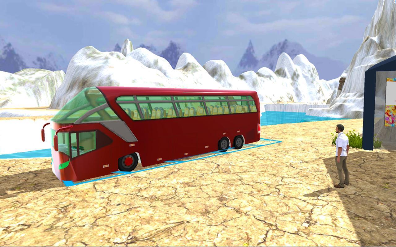 冬季巴士模拟器2018年雪圣诞派对 游戏截图1