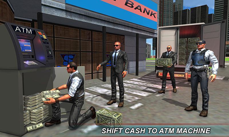 银行现金转移3D:安全范模拟器2018年 游戏截图1
