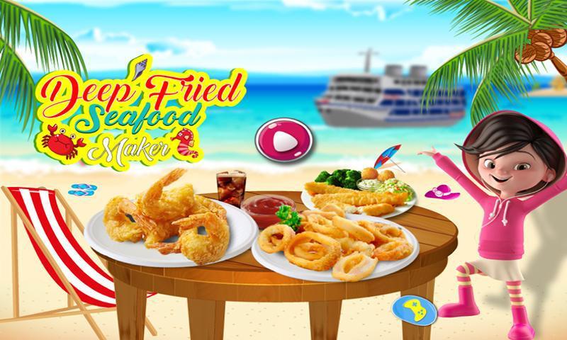油炸海鲜食物狂欢节 游戏截图1