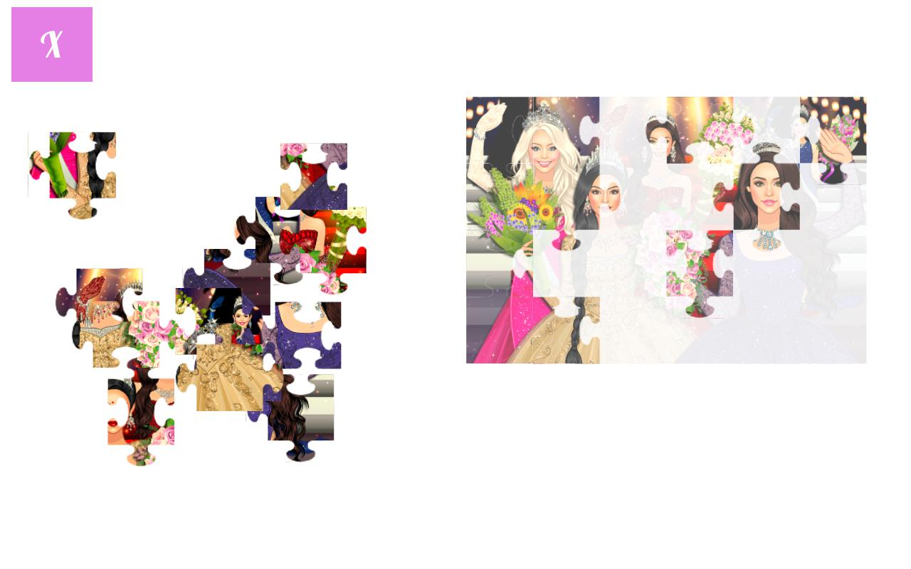 为女孩打造的时尚拼图游戏 游戏截图3