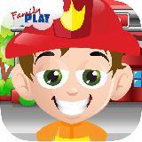 孩子消防车趣味运动会