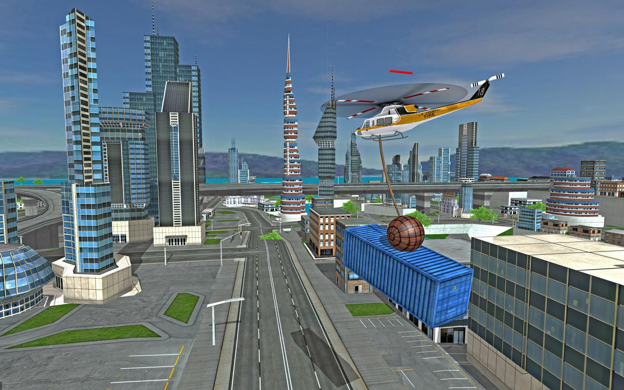 Futuristic Helicopter Rescue Simulator Flying 游戏截图3