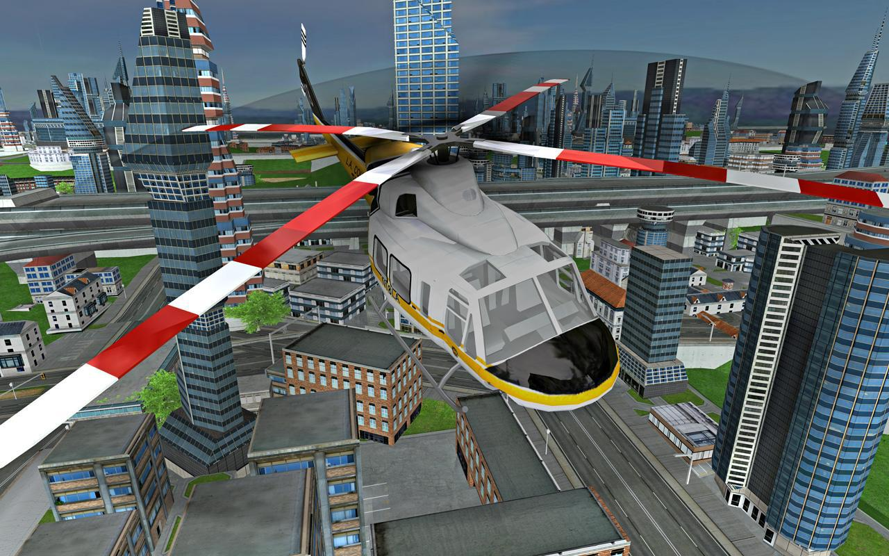 Futuristic Helicopter Rescue Simulator Flying 游戏截图5