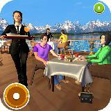 屋顶酒吧豪华餐厅烹饪游戏