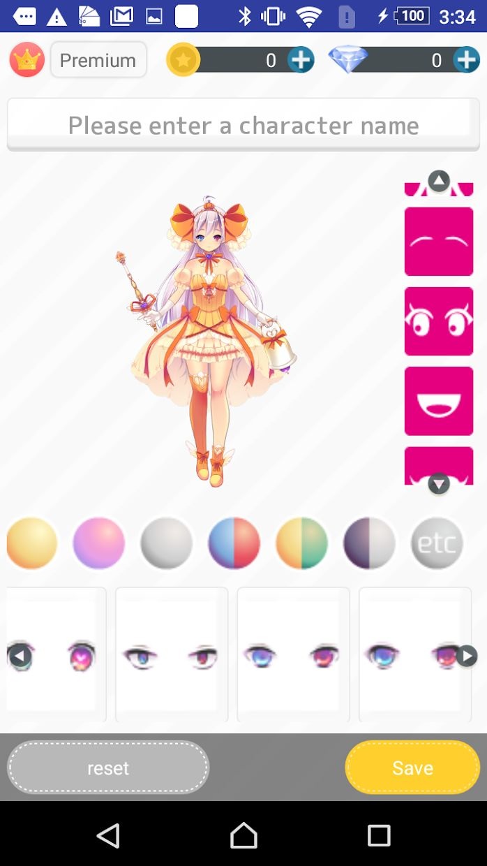 Charaft:Create Original Character,Change Clothes, 游戏截图4