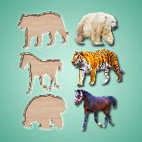 Puzzle Game Animals Birds and Fish for Toddlers
