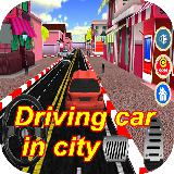 Driving car in city