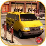 学校面包车司机模拟器3D