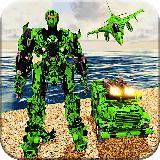 US Army Jet  Multi Transform Robot War