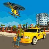 Smart City Taxi Helicopter Driving Simulator