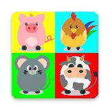 儿童记忆游戏 - 动物配对游戏