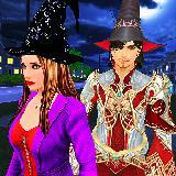 万圣节女巫和巫师冒险