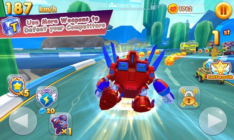 超级生物 - 赛车英雄 游戏截图2