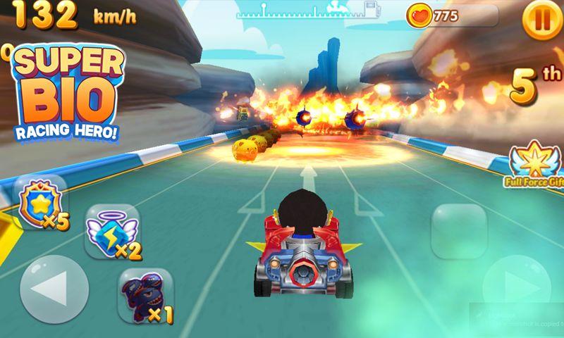 超级生物 - 赛车英雄 游戏截图5