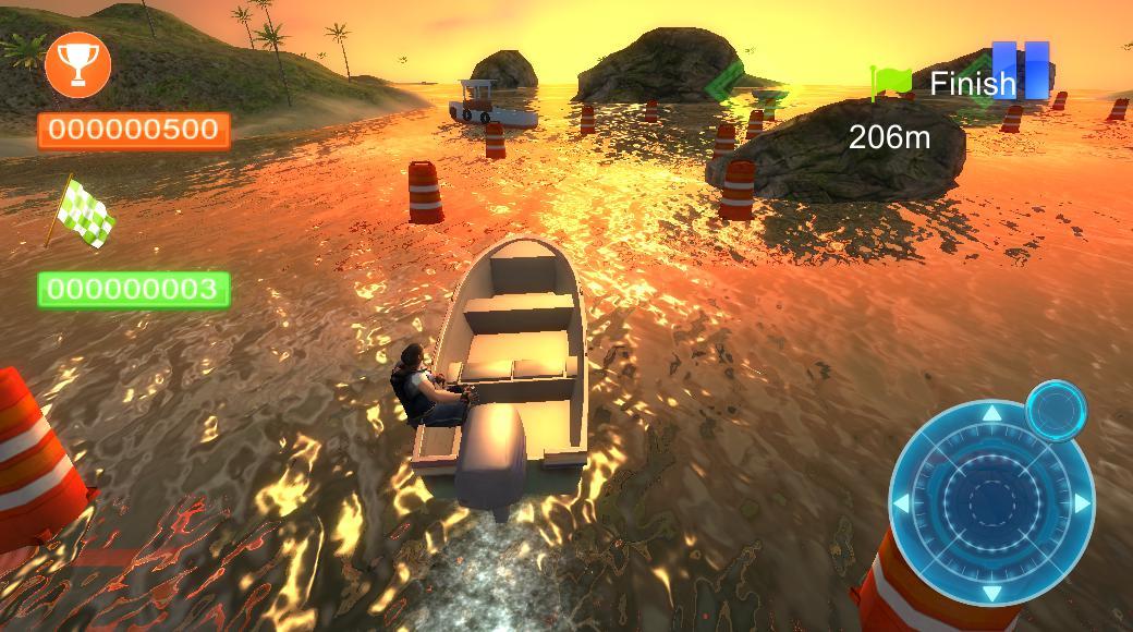 Реальная парковка лодки 3D 游戏截图1