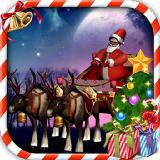 圣诞老人的雪橇停车3D Santa