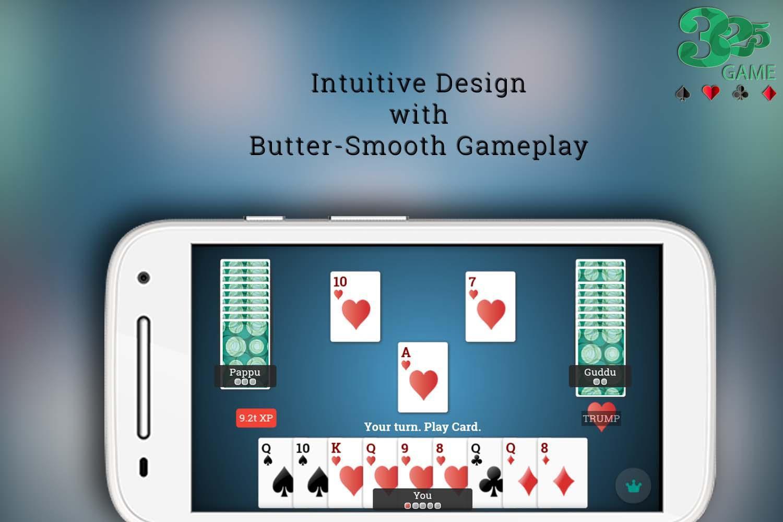 325 Bridge Playing Cards Game 游戏截图1